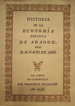 Ignacio Jordán de Asso_Historia de la economía política de Aragón