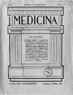 Medicina : publicación escolar