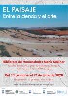 """Se mantiene (virtualmente) la exposición """"El Paisaje: Entre la ciencia y el arte"""" en la Biblioteca María Moliner."""