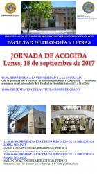 Jornada de Acogida para los alumnos de primero en Filosofía y Letras