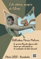 Mesa de novedades: otoño 2020. Biblioteca María Moliner