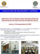 Jornada de Acogida para los Estudiantes de Programas de Movilidad Internacional