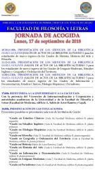 Jornada de Acogida para los alumnos de primer curso de los títulos de grado de la Facultad de Filosofía