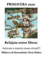 Mesa de novedades de la Biblioteca María Moliner