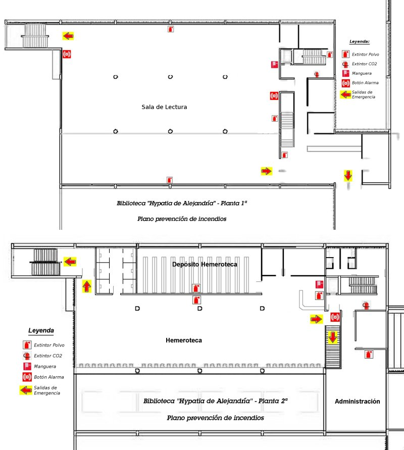 Hypatia plano biblioteca de la universidad de zaragoza for Planos de bibliotecas