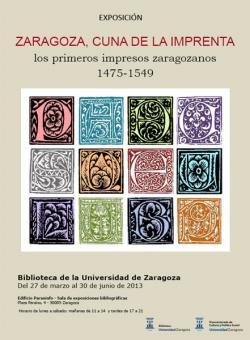 Zaragoza cuna de la imprenta